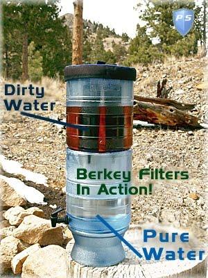 how berkey filters water